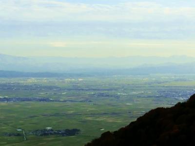 新潟弥彦山から見た越後平野