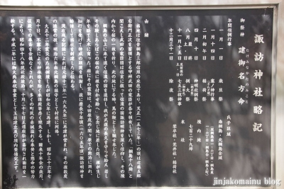 諏訪神社(横浜市港北区綱島東)4