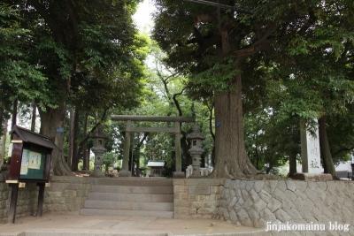 野川神明社(川崎市宮前区野川)1