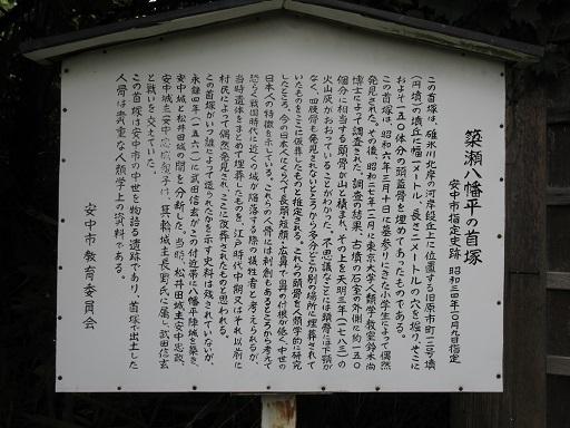 簗瀬八幡平の首塚