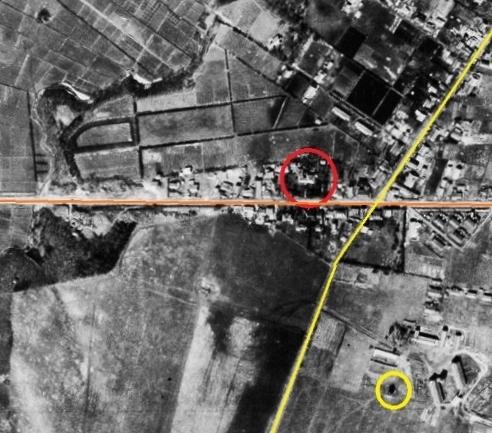 米軍1948年空中写真 旭町十字街