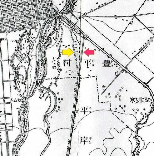 明治29年地形図 平岸街道