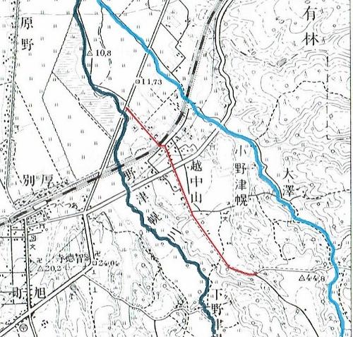昭和10年地形図 試験場線