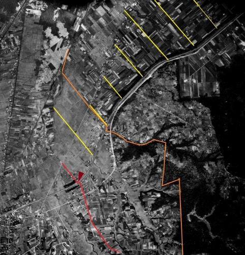 空中写真 1947年米軍 試験場線 野幌区画
