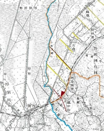 大正5年地形図 試験場線 野幌区画