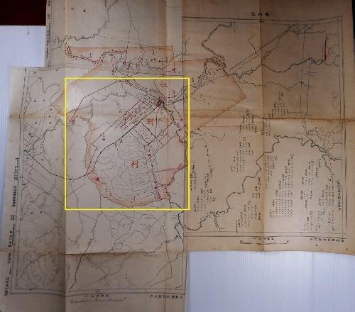 明治41年 江別村地図