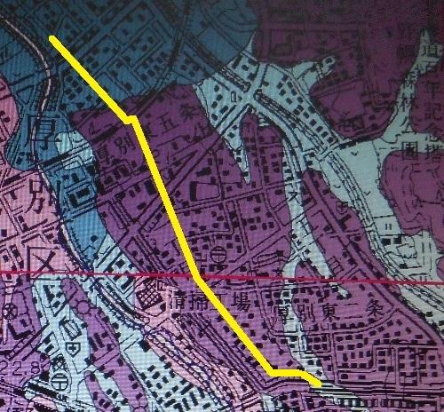 札幌及び周辺部地盤地質図 試験場線周辺