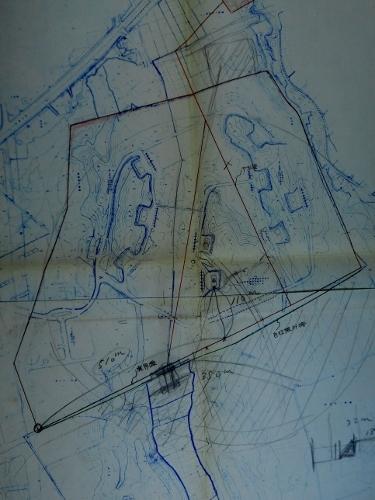 札幌市下野幌団地下水管布設設計計画図 厚別弾薬庫周辺