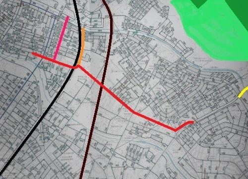 厚別区認定道路網図 官林東線 官林南線 官林北線