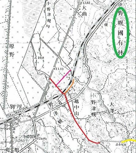 昭和10年地形図 野幌国有林