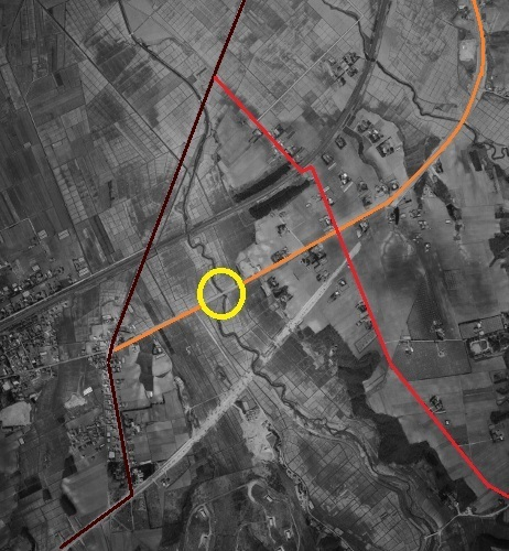 空中写真 1961年 小野幌 水恋橋周辺