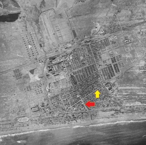 空中写真 1944年陸軍 苫小牧 新川通り