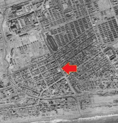 空中写真 1944年陸軍 苫小牧 新川通り 拡大