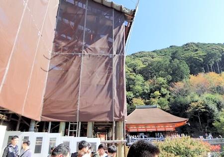 清水寺本堂改修中