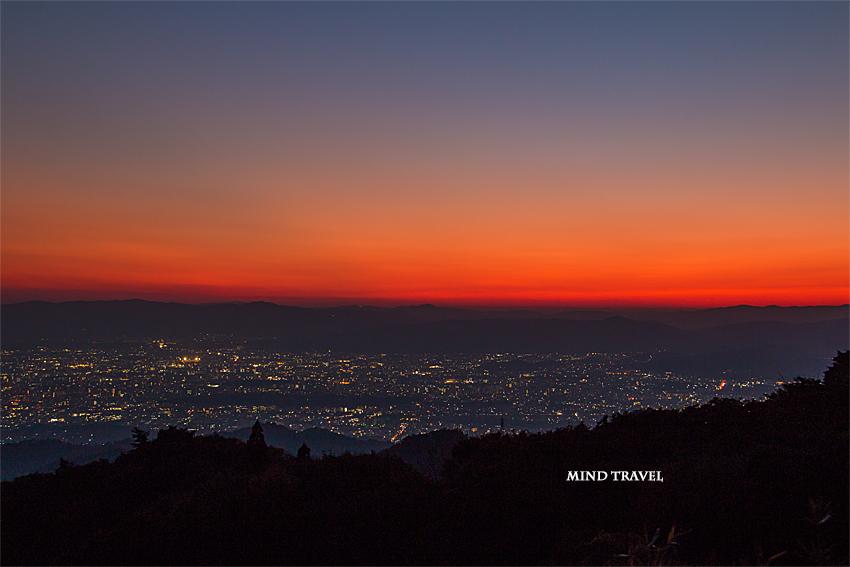 比叡山より京都を望む