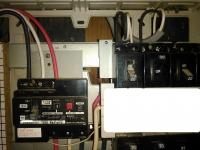分電盤状況 1次側から専用回路が取られていない 小林消防設備