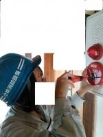 自動火災報知設備発信機点検 小林消防設備 小林(女)