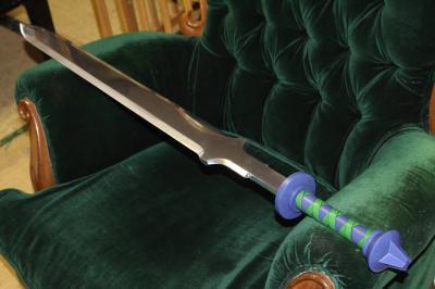 金属刀身仕様マスターソード(スカイウォードソードver)柄部分革巻き