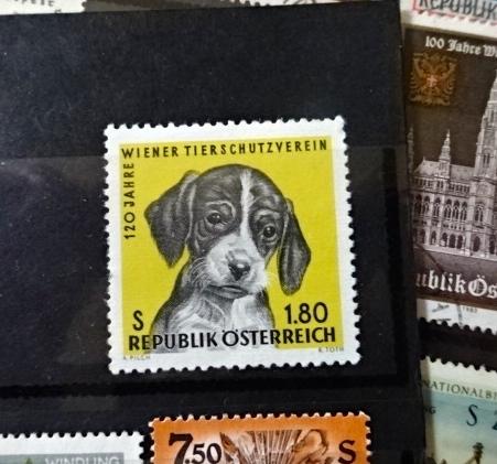 オーストリア犬切手