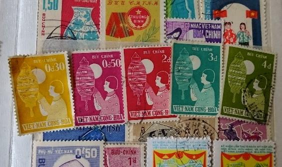 ベトナム女の子切手