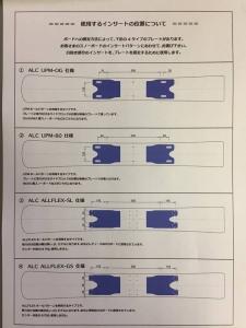 ALCプレートホールパターン