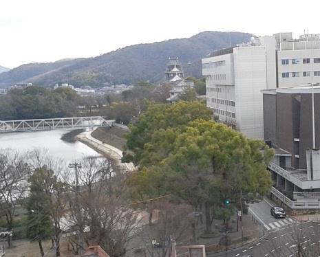 ホテルから岡山城