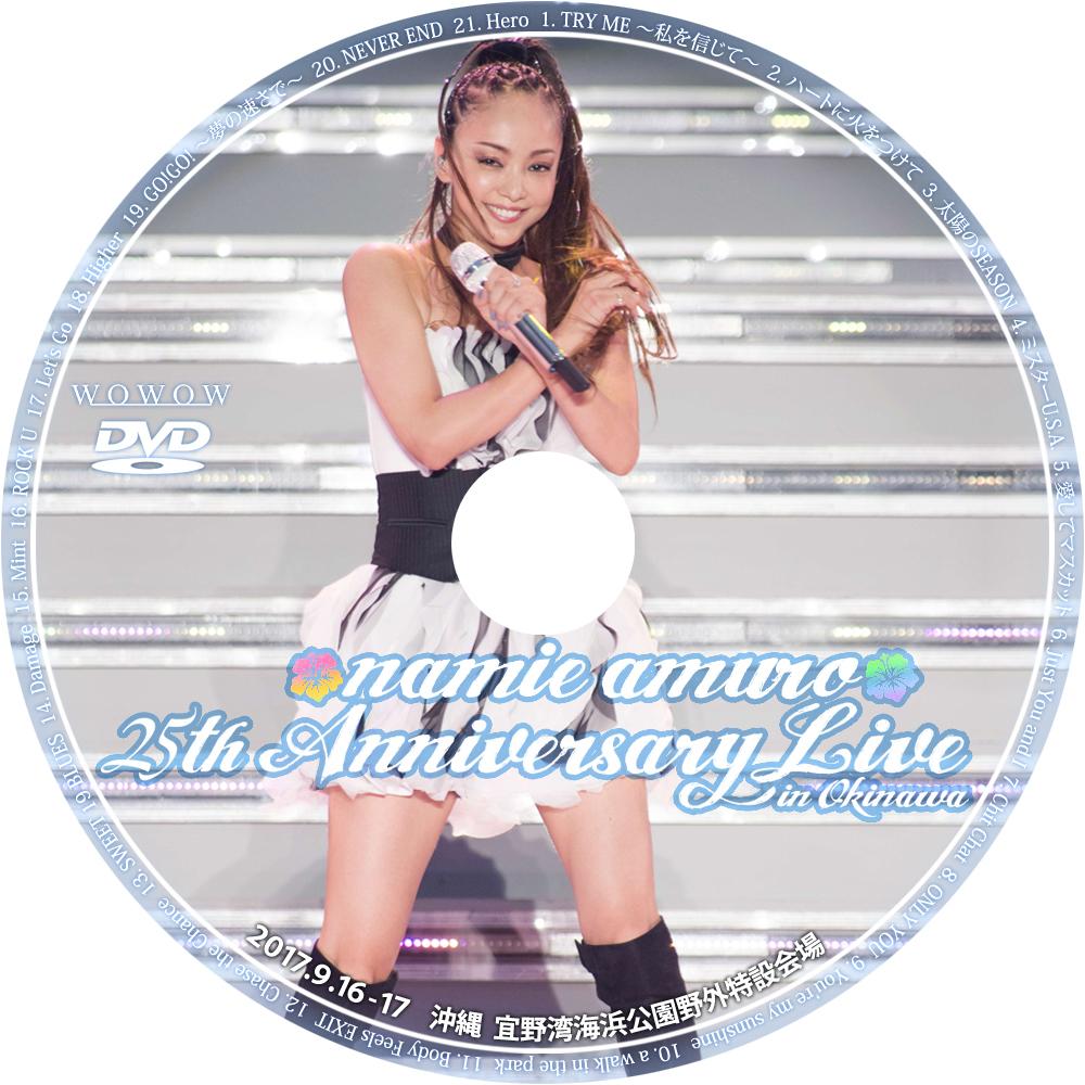 安室奈美恵 25th ANNIVERSARY LIVE in OKINAWA - 気ままにDVD/Blu-rayラベル作り