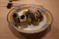 揚げ茄子の肉味噌かけ&鯖寿司