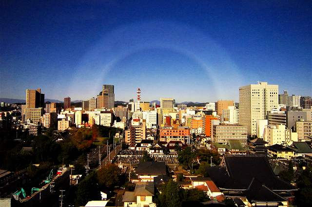 ホテルより望む仙台市内