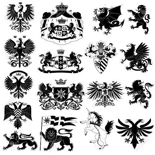 10452641-Coat-of-arms-and-heraldic-animals-set-Stock-Photo.jpg