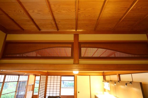旧陸奥宗光邸・応接室兼主人室(欄間)