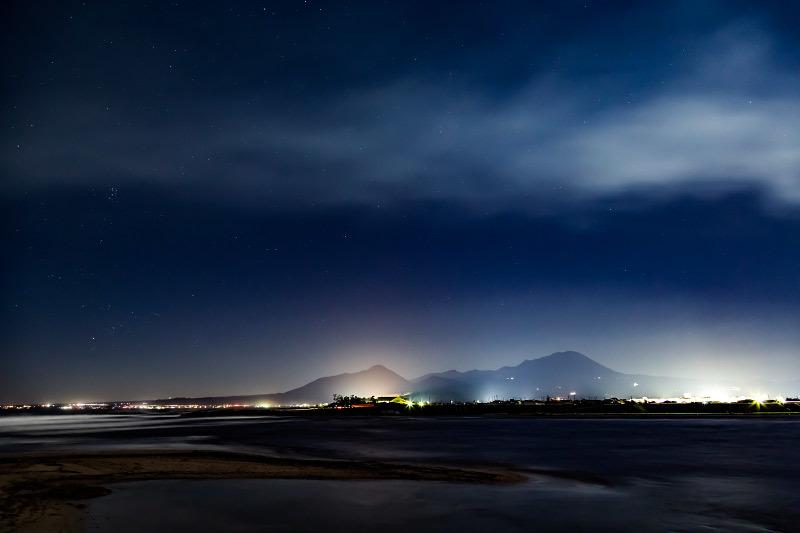 大山 夜景 撮影