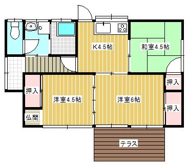 三輪武志様平屋建貸家(安松町2-2(3DK)南棟