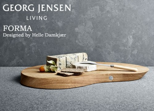 FORMA CHEESE BOARD WITH CHEESE KNIFE( フォルマ・チーズボード&ナイフセット ) Helle Damkjær(ヘレ・ダンケア) Georg Jensen ( ジョージ ジェンセン )