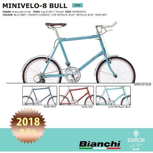2018年最新モデル BIANCHI(ビアンキ) MINIVELO8 BULLHORN(ミニベロ8ブルホーン) 小径自転車