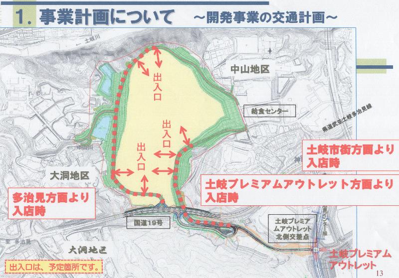 イオンモールの交通計画