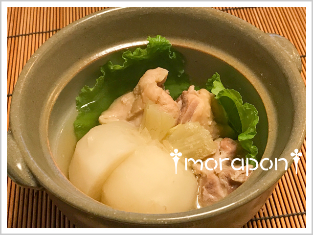 171101 鶏と蕪の小鍋立て