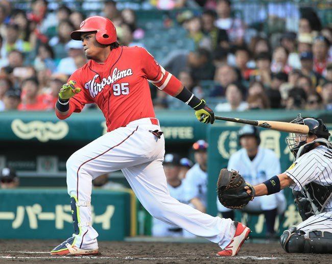 9月18日 阪神-広島 8回表 バティスタ 勝ち越しタイムリー