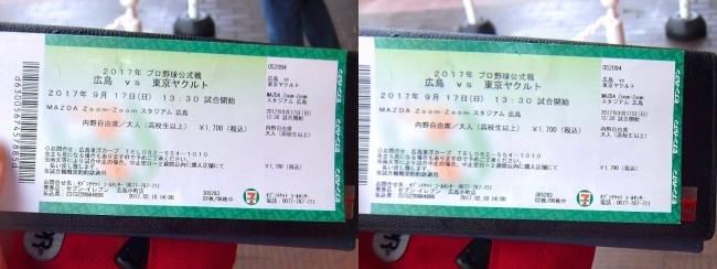 幻のマジック1チケット 2017.9.17(平行法)
