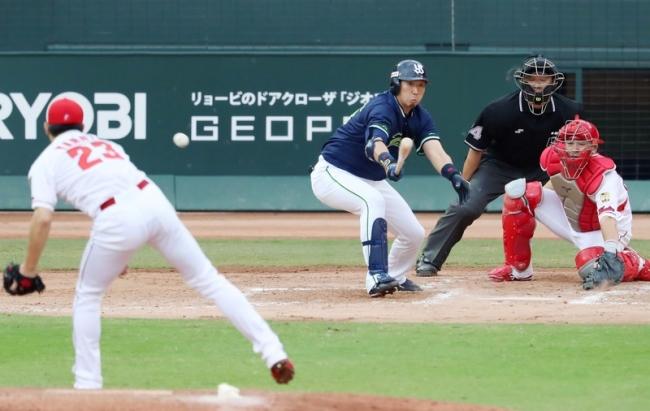 9月16日 広島-ヤクルト 7回表 大松 同点タイムリー