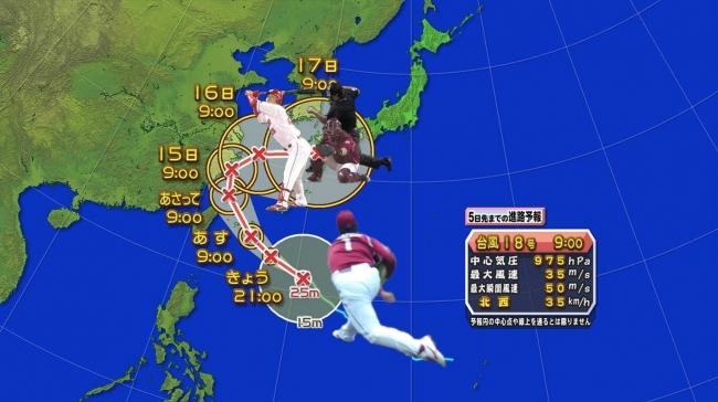2017年台風18号5日先までの進路予想