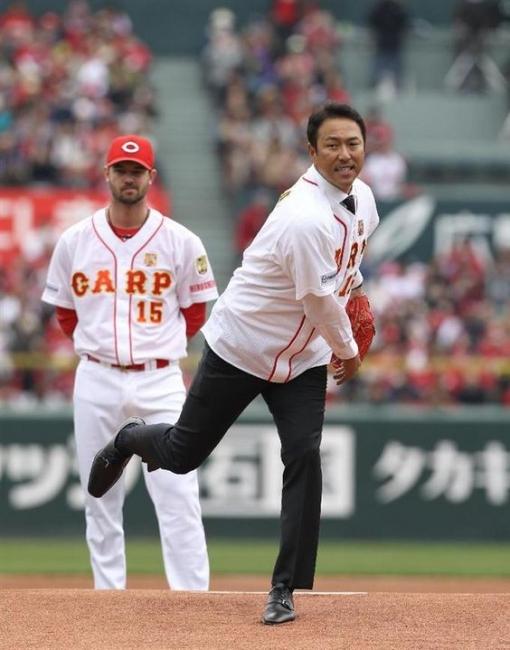 3月18日 黒田博樹引退記念始球式