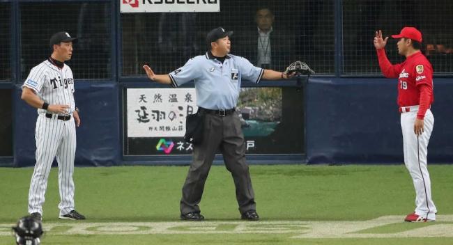 阪神 金本監督と広島 緒方監督