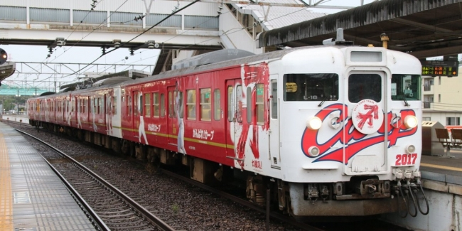 JR山陽本線 115系L-16編成 カープ電車2017