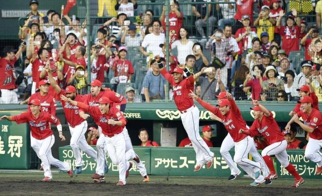 9月18日 阪神-広島 優勝決定の瞬間