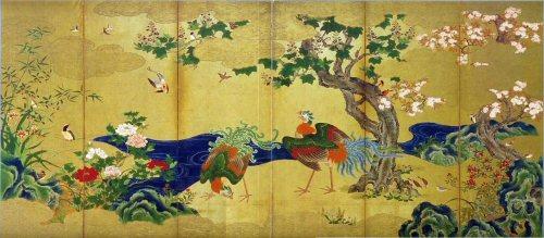 01 500 四季花鳥図狩野永徳