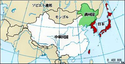 400 満洲国 map