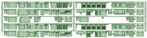 7000系床下機器 7001F(6連)【武蔵模型工房 Nゲージ 鉄道模型】