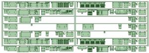 7000系床下機器 7009F(8連)【武蔵模型工房 Nゲージ 鉄道模型】