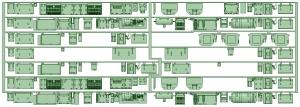 7000系床下機器 7013F(8連VVVF)【武蔵模型工房 Nゲージ 鉄道模型】